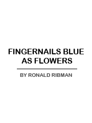 FINGERNAILS BLUE AS FLOWERS